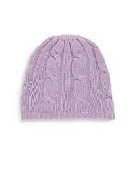 Portolano Cable Knit Solid Beanie Lilac