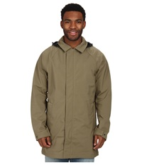 The North Face Macarthur Soft Shell Trench Burnt Olive Green Men's Coat