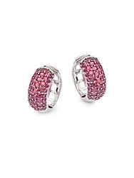 Effy Ruby And 14K White Gold Earrings Red