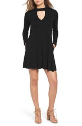 Socialite Women's Mock Neck Knit Shift Dress