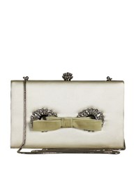 Badgley Mischka Autum Bow Jeweled Clutch Ivory
