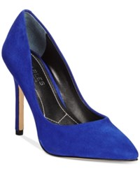 Charles By Charles David Pact Pumps Women's Shoes Royal Blue Suede