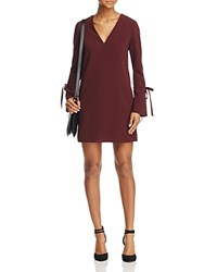 Dylan Gray Tie Detail Flare Cuff Dress Burgundy