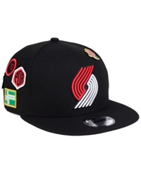 New Era Portland Trail Blazers On Court Collection 9Fifty Snapback Cap Black
