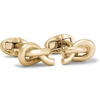 Mulberry Knotted Gold Plated Cufflinks Gold