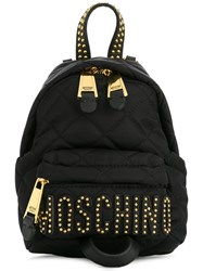 Moschino Quilted Backpack Black