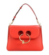 J.W.Anderson Medium Pierce Leather Shoulder Bag Red