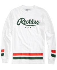 Young And Reckless Men's Long Sleeve Graphic Print T Shirt White