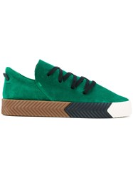 Adidas Originals By Alexander Wang Skate Sneakers Unisex Leather Suede Rubber 5.5 Green