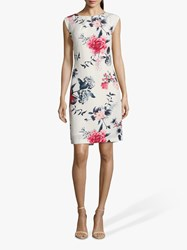 Betty And Co. Floral Dress White Red