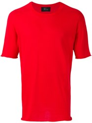 Lost And Found Ria Dunn Minimal T Shirt Cotton Red