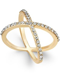 Inc International Concepts Criss Cross Rhinestone Rings Only At Macy's Gold
