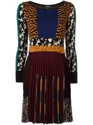 Etro Multi Print Pleated Dress