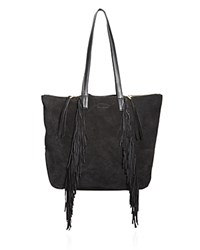 Linea Pelle Stevie Fringe Tote Compare At 288 Black