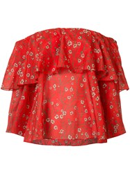 Alice Olivia Floral Blouse Red