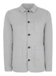 Topman Grey Light Blue Worker Jacket