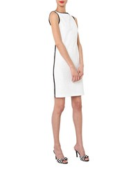 Isaac Mizrahi Sleeveless Embroidered Dress White
