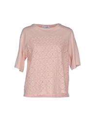 Lo Not Equal Topwear T Shirts Women Light Pink