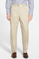 Men's Big And Tall John W. Nordstrom Smartcare Flat Front Supima Cotton Pants Tan