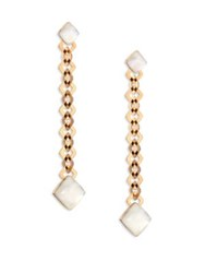 Vhernier Pan Di Zucchero Sunflower Quartz Mother Of Pearl And 18K Rose Gold Drop Earrings