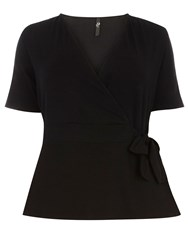 Evans Black Hourglass Fit Wrap Top