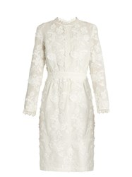 Vanessa Bruno Foraine Embroidered Cotton Voile Dress Ivory
