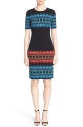 Women's St. John Collection 'Marrakech' Jacquard Knit Dress