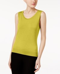 August Silk Scoop Neck Shell Sweet Pear