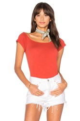 Lamade Imelda Off Shoulder Top Red