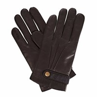 Gizelle Renee Alfie Black Leather Gloves With Black Cashmere