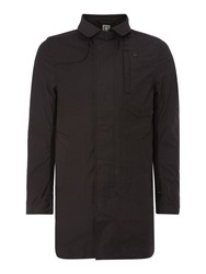 G Star Garber Trench Casual Showerproof Button Mac Black