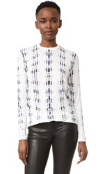 Prabal Gurung Long Sleeve T Shirt Ivory Snake Skin