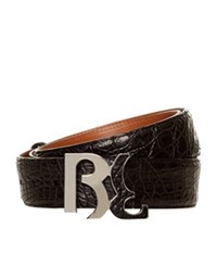 Billionaire Cayman Skin Belt Black