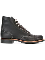 Red Wing Shoes Angled Brogue Detail Boots Black