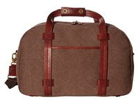 Bosca Washed Leather Collection Duffel Brown Dark Brown Duffel Bags