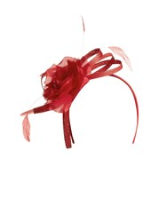 Kaliko Red Hot Floral Fascinator
