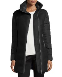 Moncler Aglaia Wool Coat W Quilted Combo Black
