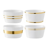 Lsa International Deco Assorted Gold Bowl Set Of 4