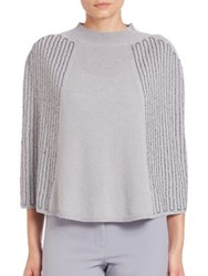 Halston Embellished Wool And Cashmere Poncho Cape