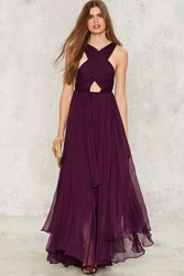 Nasty Gal Collection Purple Reina Maxi Dress