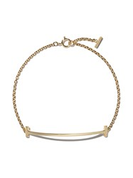 Tiffany And Co. Co 18Kt Yellow Gold T Smile Bracelet Metallic