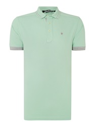Duck And Cover Plain Regular Fit Polo Shirt Light Green