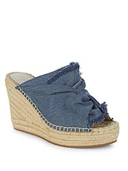 Kenneth Cole Otta Denim Espadrille Wedges