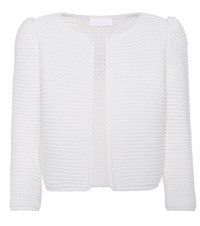Co Hand Knit Wool Cardigan White