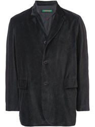 Casey Casey Textured Button Blazer Black