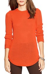 Women's Lauren Ralph Lauren Crewneck Sweater Orange