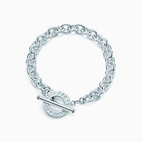 Tiffany And Co. Toggle Bracelet In Sterling Silver.
