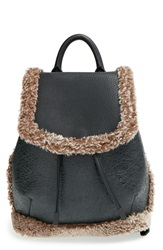 Rag And Bone 'Mini Pilot' Genuine Shearling And Leather Backpack Black Natural