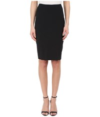 Prabal Gurung Stretch Wool Knee Length Skirt Black