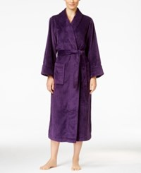 Charter Club Petite Super Soft Shawl Collar Long Robe Only At Macy's Purple